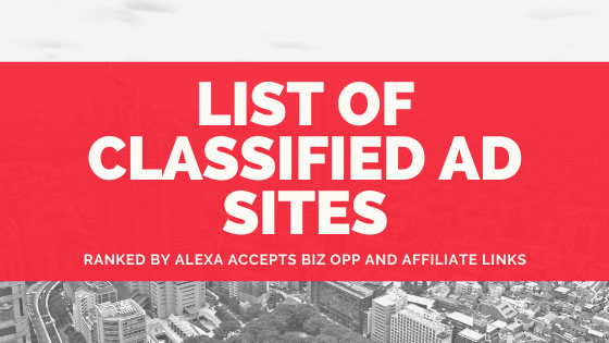 List of 35 Free Classified Ads Sites Where You Can Post Affiliate Offers (2021)
