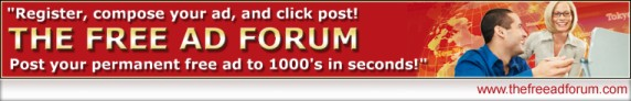 Post your free permanent ads on TheFreeAdForum.com